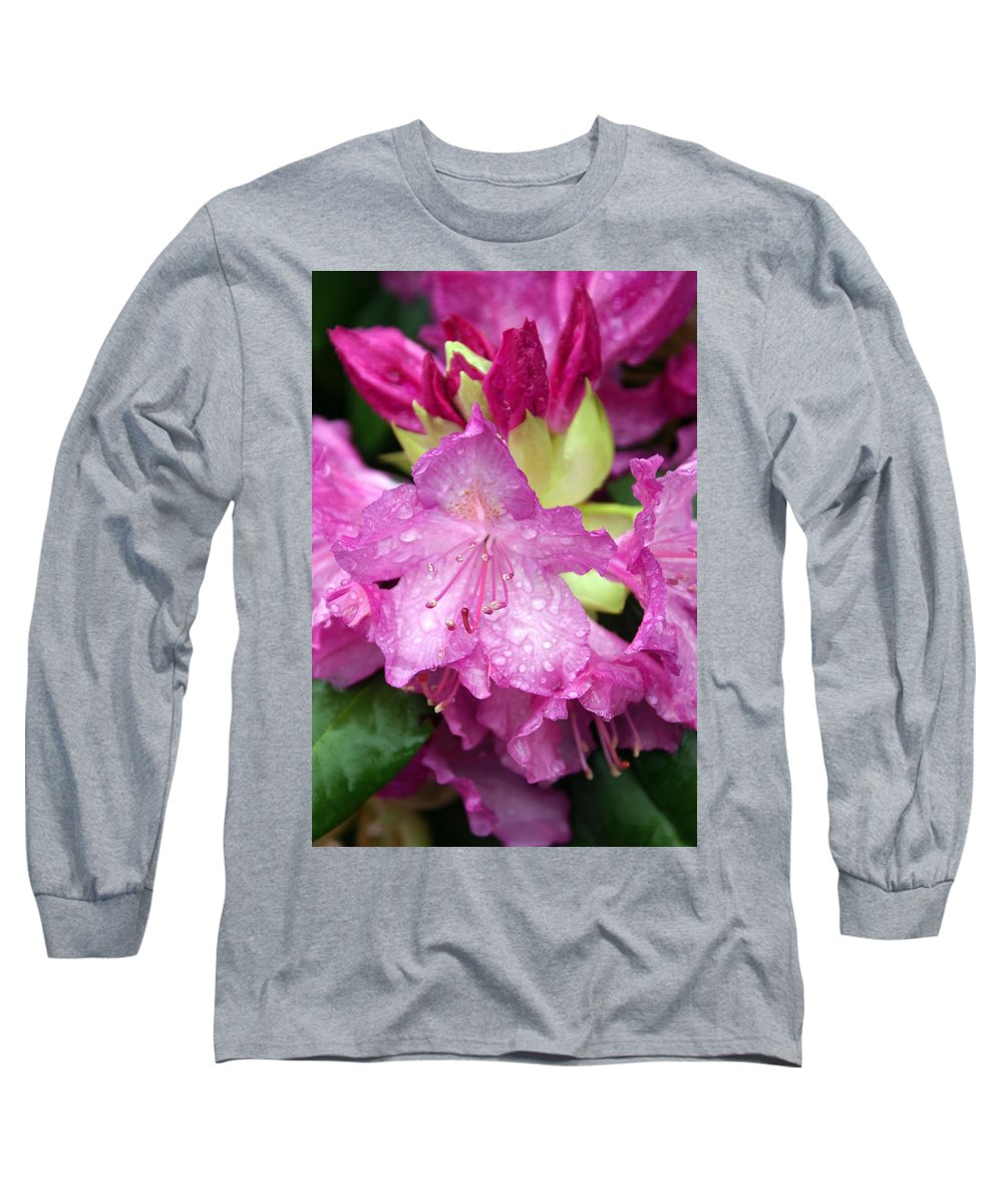 Fllowers Long Sleeve T-Shirt featuring the photograph Purple Pink by Marty Koch