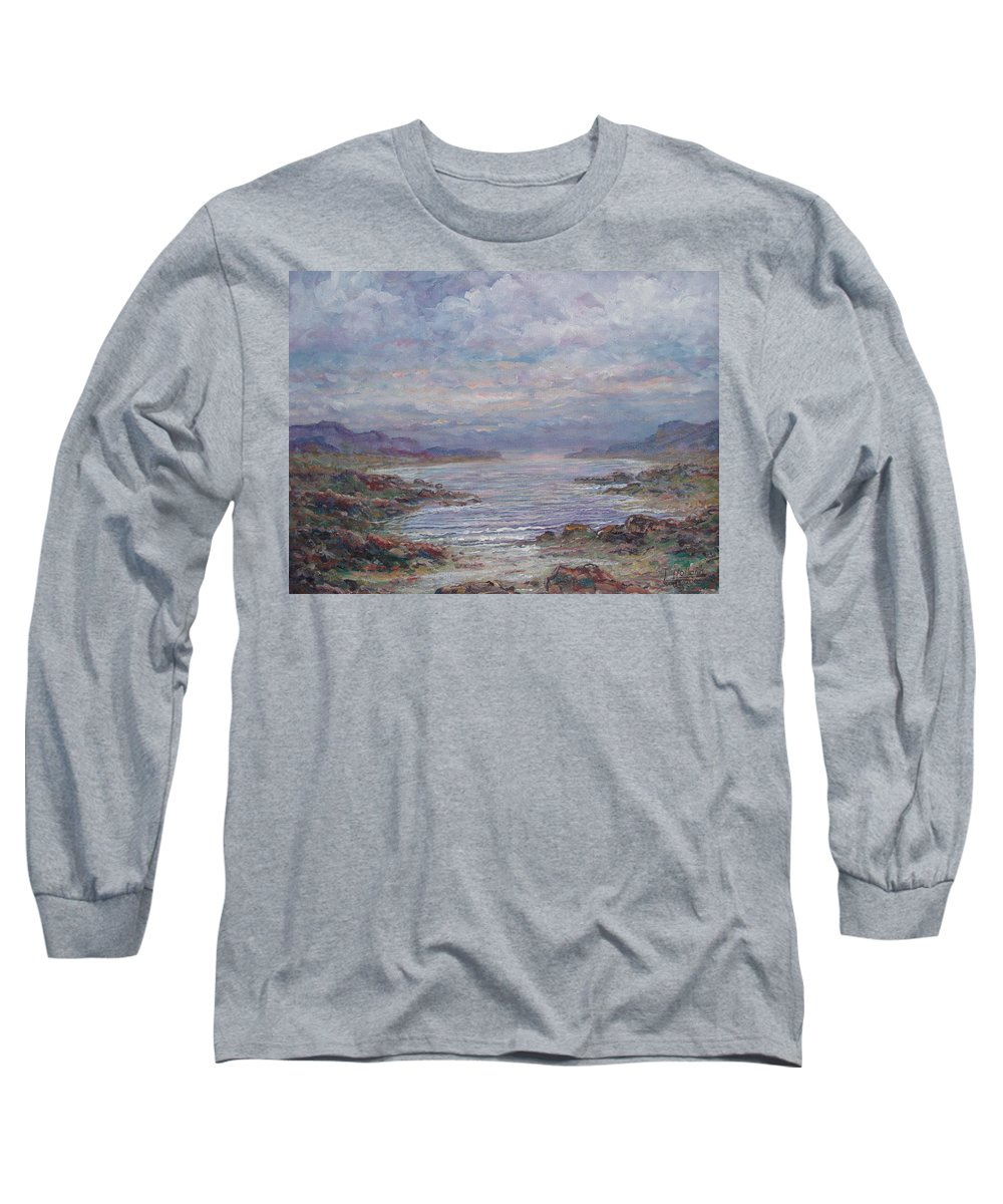 Painting Long Sleeve T-Shirt featuring the painting Quiet Bay. by Leonard Holland