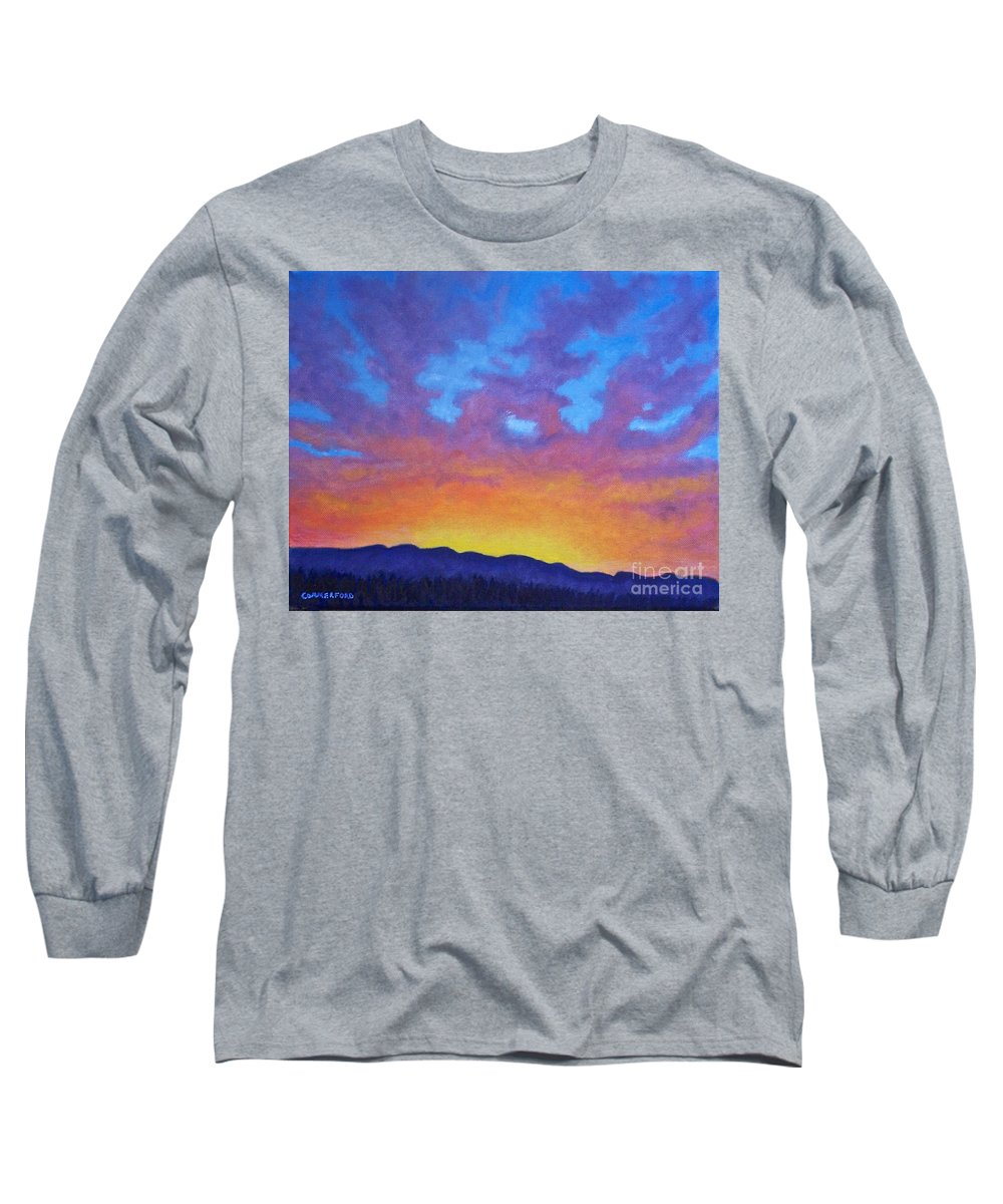 Landscape Long Sleeve T-Shirt featuring the painting Radiance by Brian Commerford