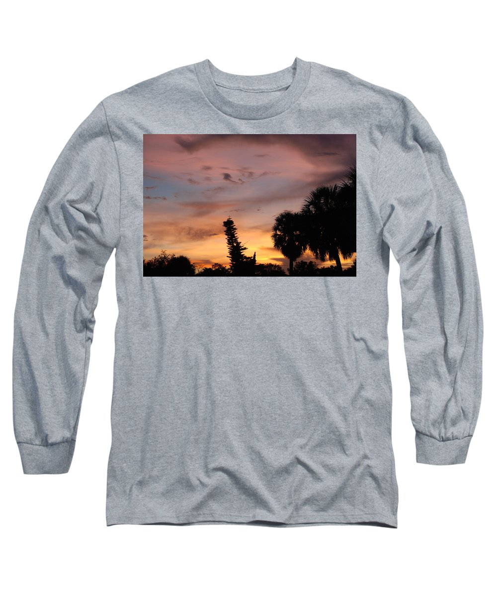 Sunset Long Sleeve T-Shirt featuring the photograph Rainbow Sunset by Rob Hans