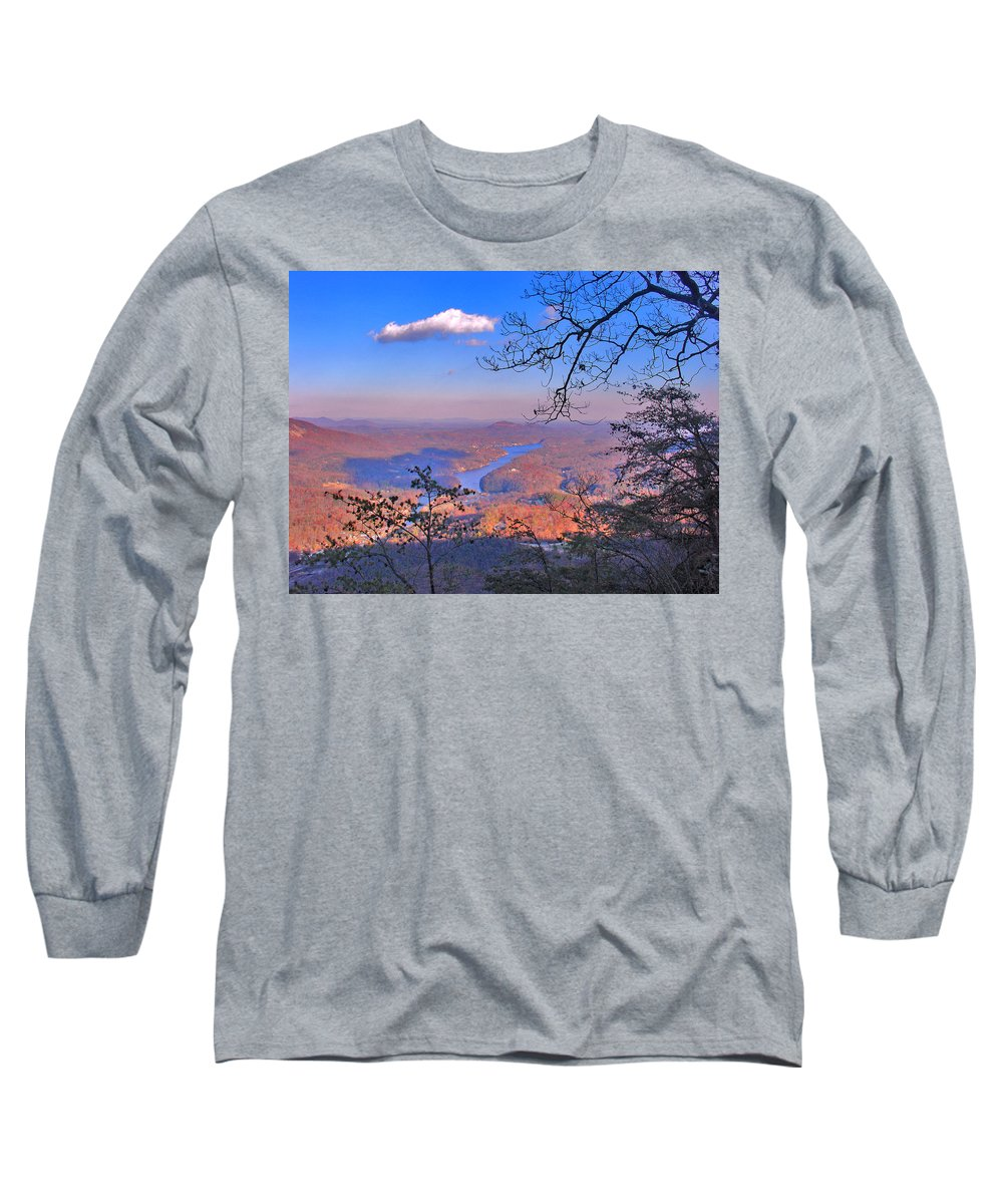 Landscape Long Sleeve T-Shirt featuring the photograph Reaching For A Cloud by Steve Karol