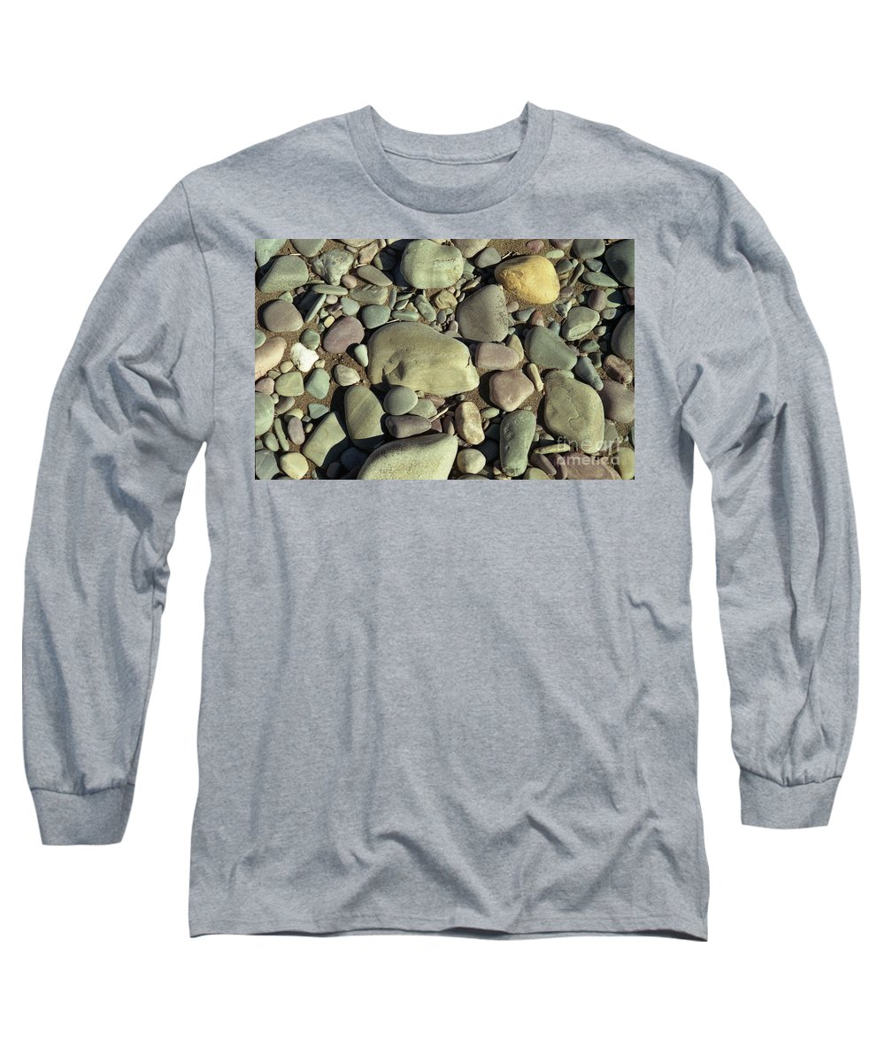 River Rock Long Sleeve T-Shirt featuring the photograph River Rock by Richard Rizzo