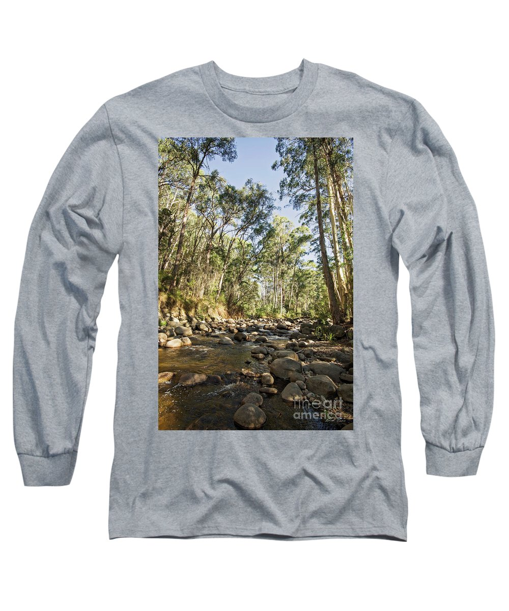 River Long Sleeve T-Shirt featuring the photograph Rubicon River by Linda Lees