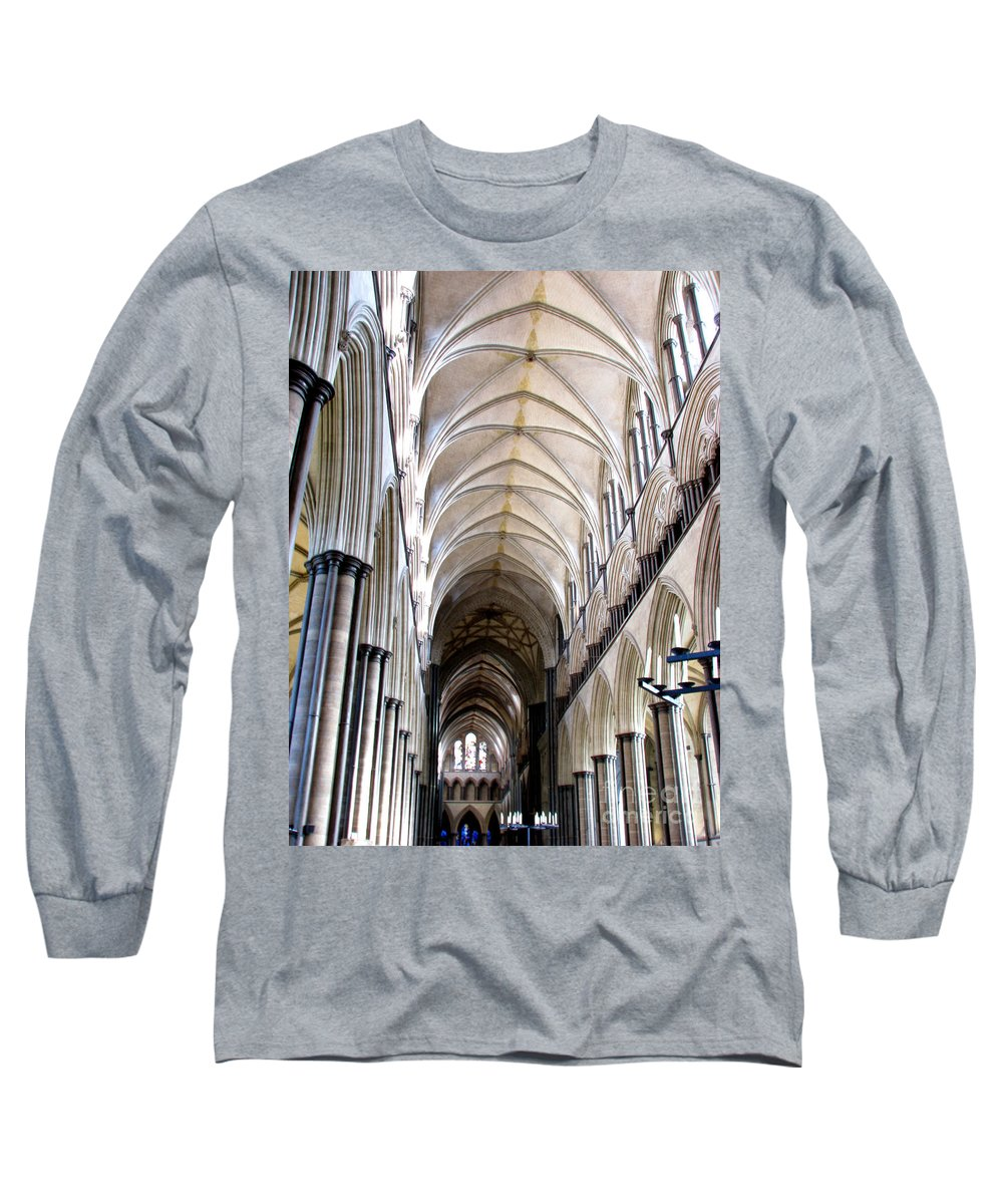 Salisbury Long Sleeve T-Shirt featuring the photograph Salisbury Cathedral by Amanda Barcon
