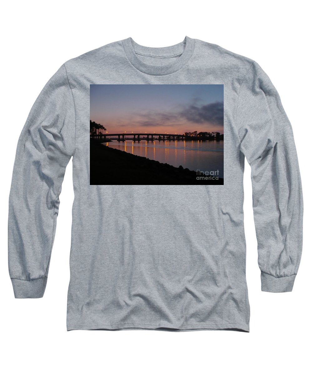 San Diego Long Sleeve T-Shirt featuring the photograph San Diego Sunset 1 by Carol Groenen