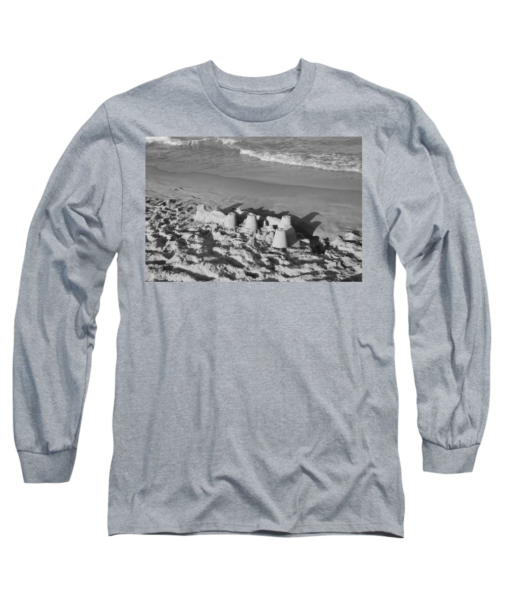 Sea Scape Long Sleeve T-Shirt featuring the photograph Sand Castles By The Shore by Rob Hans