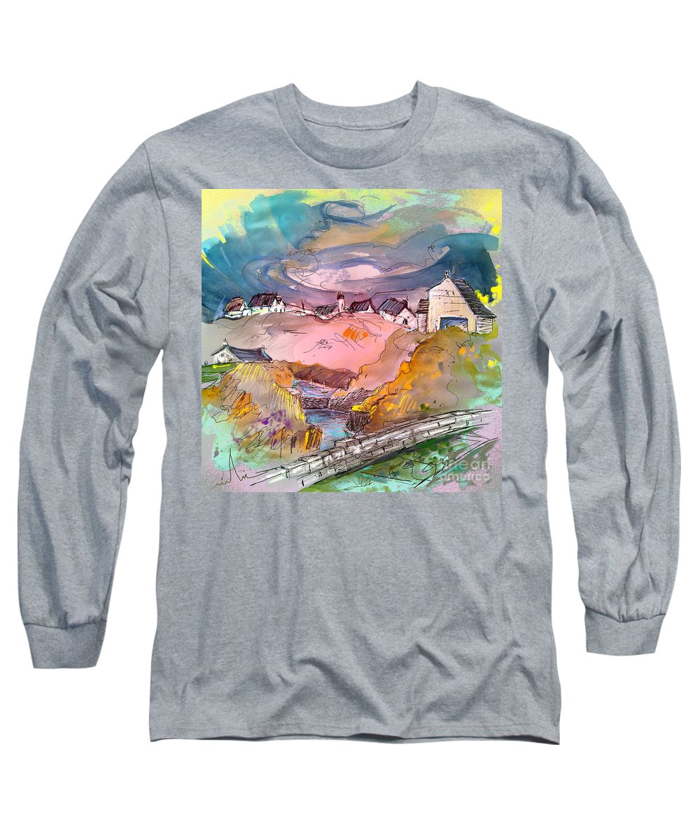 Scotland Paintings Long Sleeve T-Shirt featuring the painting Scotland 17 by Miki De Goodaboom