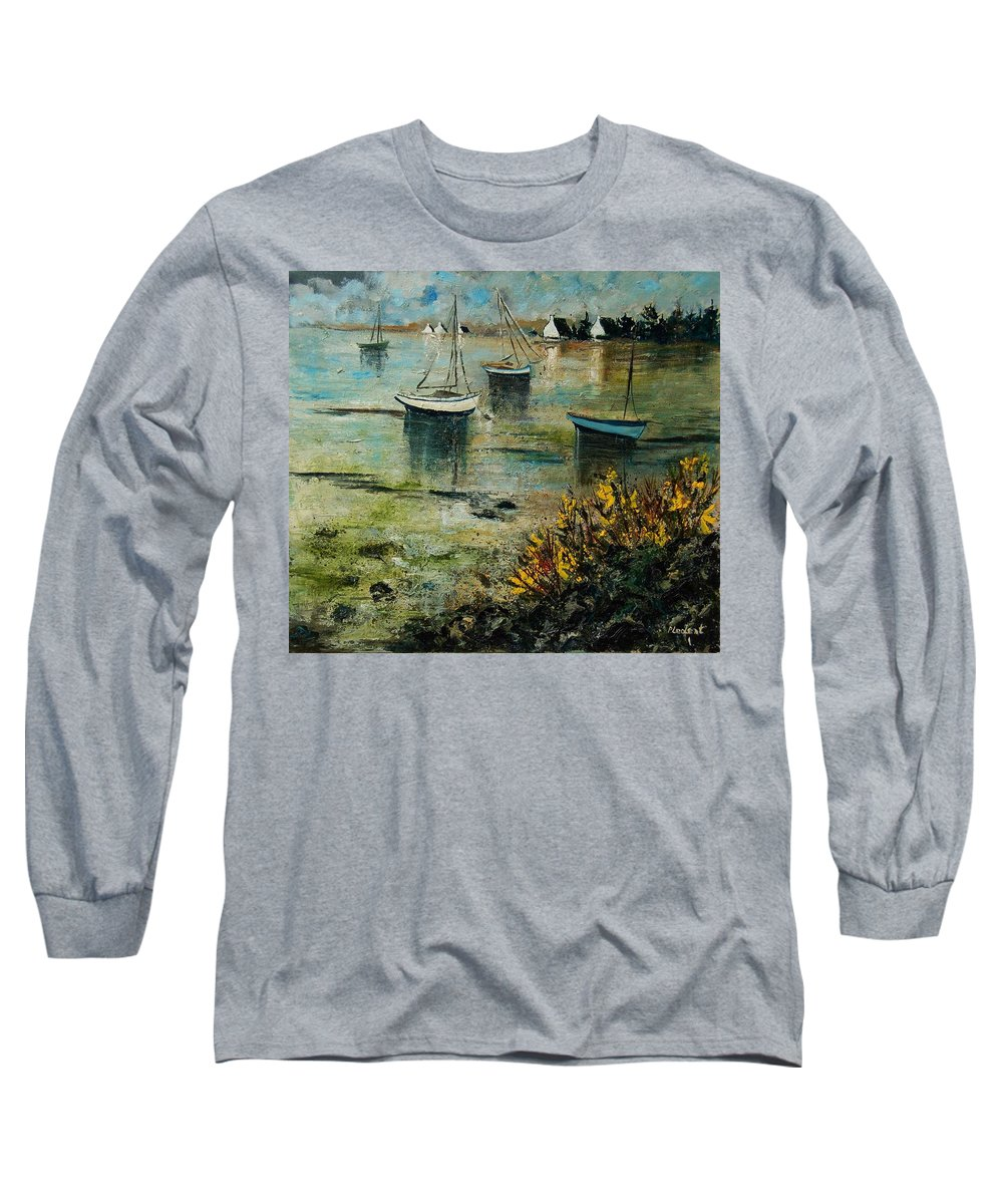 Seascape Long Sleeve T-Shirt featuring the print Seascape 78 by Pol Ledent