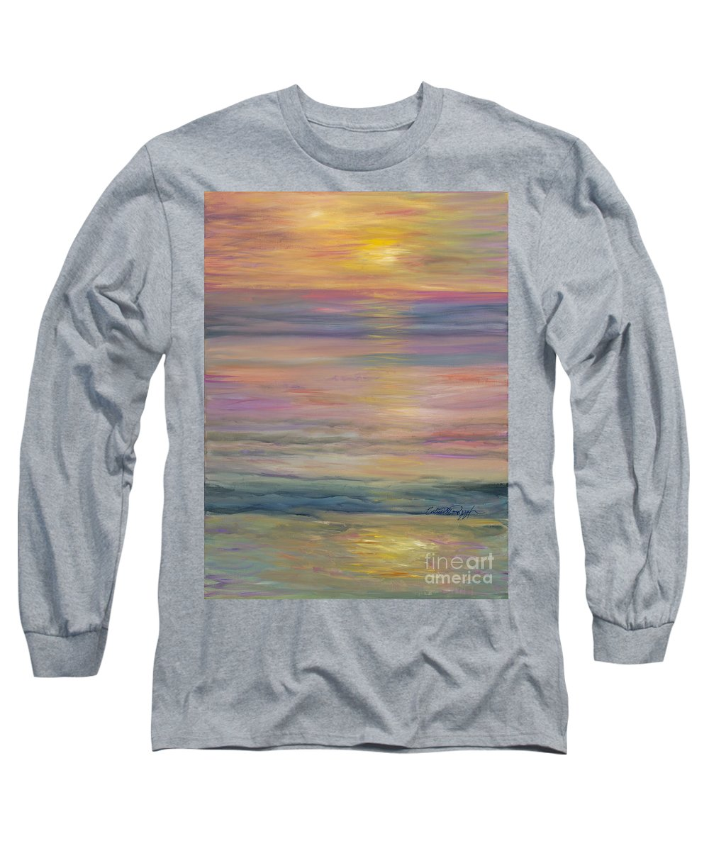 Sea Long Sleeve T-Shirt featuring the painting Seascape by Nadine Rippelmeyer