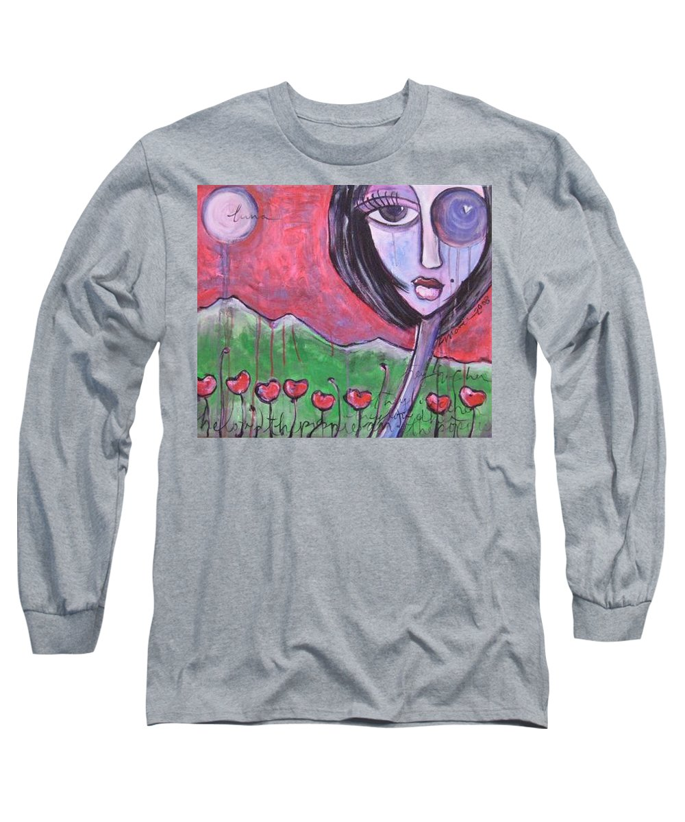 Poppies Long Sleeve T-Shirt featuring the painting She Loved The Poppies by Laurie Maves ART