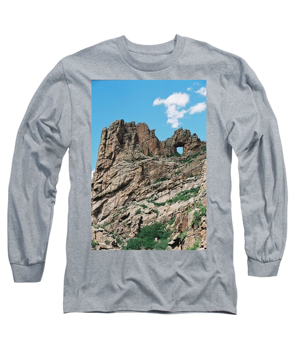 Shelf Road Long Sleeve T-Shirt featuring the photograph Shelf Road Rock Formations by Anita Burgermeister