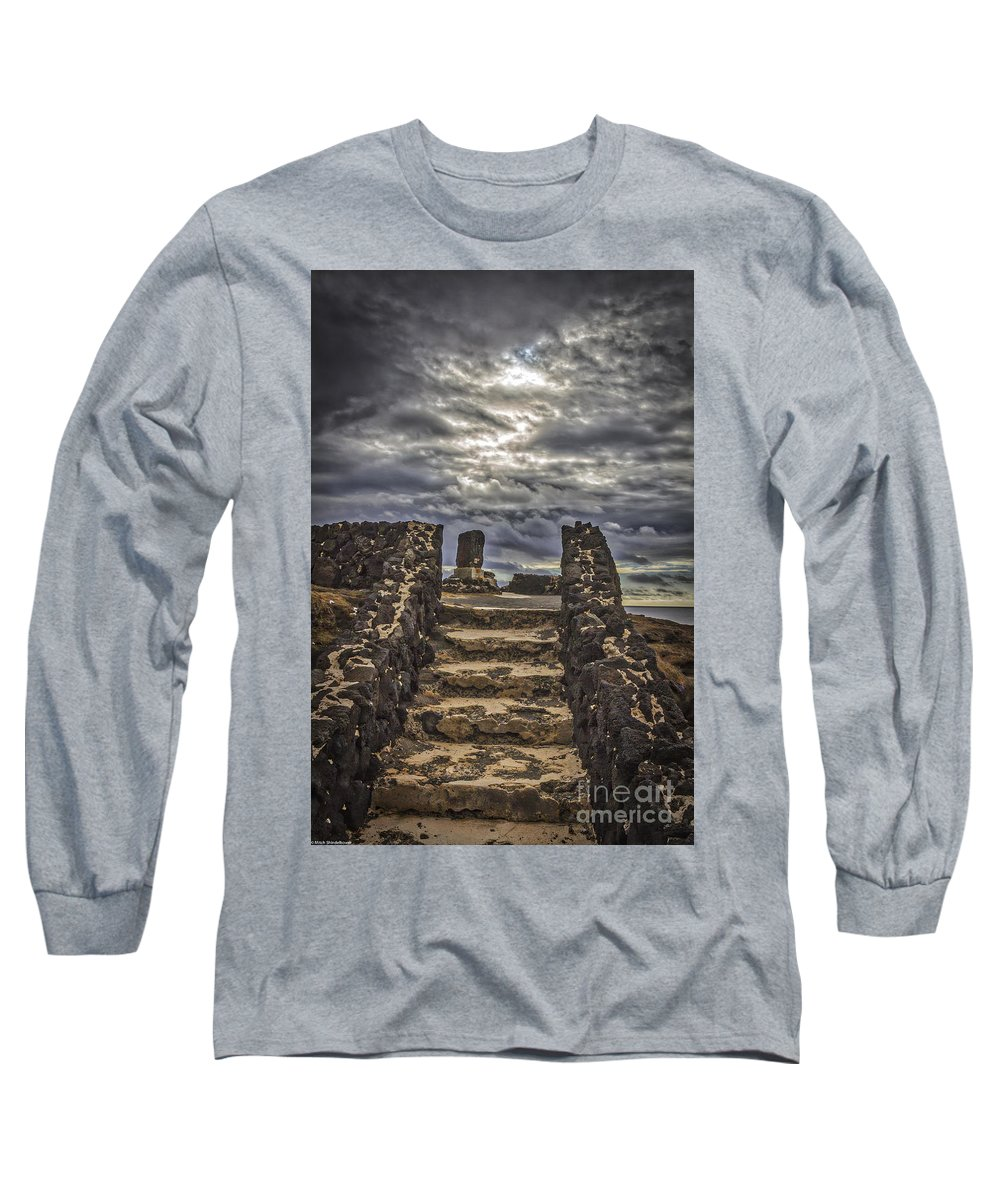 Shrine To Drowned Fishermen Long Sleeve T-Shirt featuring the photograph Shrine To Drowned Fishermen by Mitch Shindelbower