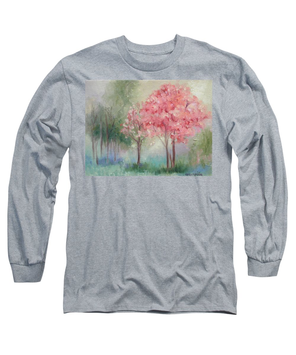 Spring Long Sleeve T-Shirt featuring the painting Sign Of Spring by Ginger Concepcion