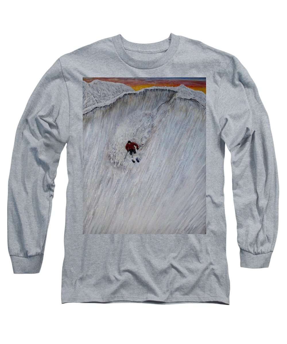 Landscape Long Sleeve T-Shirt featuring the painting Skitilthend by Michael Cuozzo