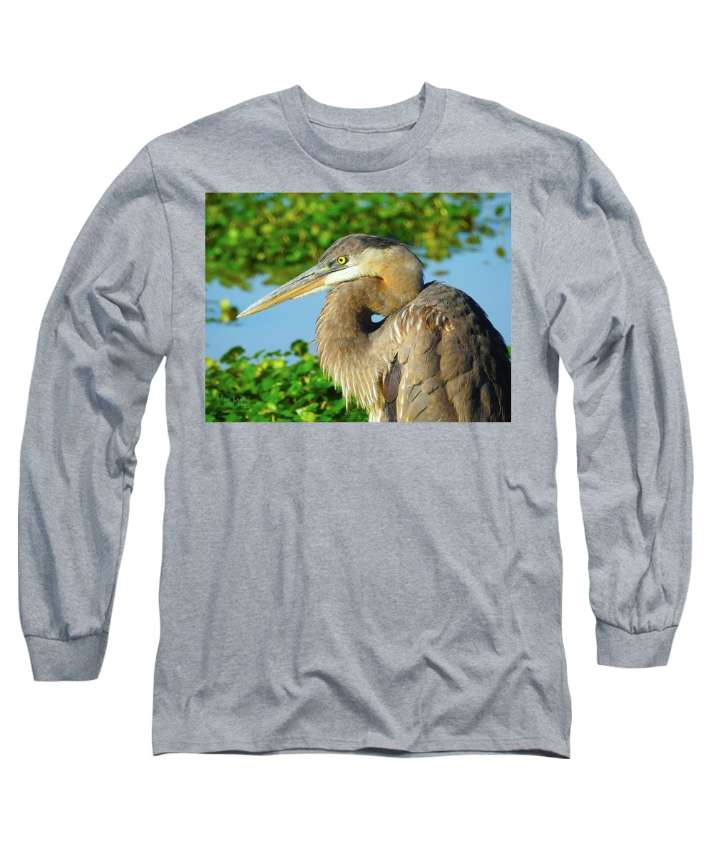 Long Sleeve T-Shirt featuring the photograph So Serious by Tony Umana