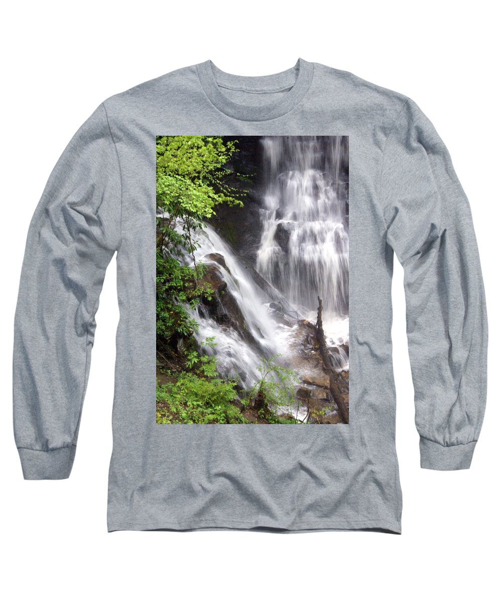 Soco Galls Long Sleeve T-Shirt featuring the photograph Soco Falls 2 by Marty Koch