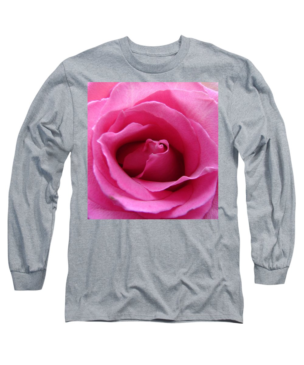 Rose Pink Pedals Long Sleeve T-Shirt featuring the photograph Soft And Pink by Luciana Seymour