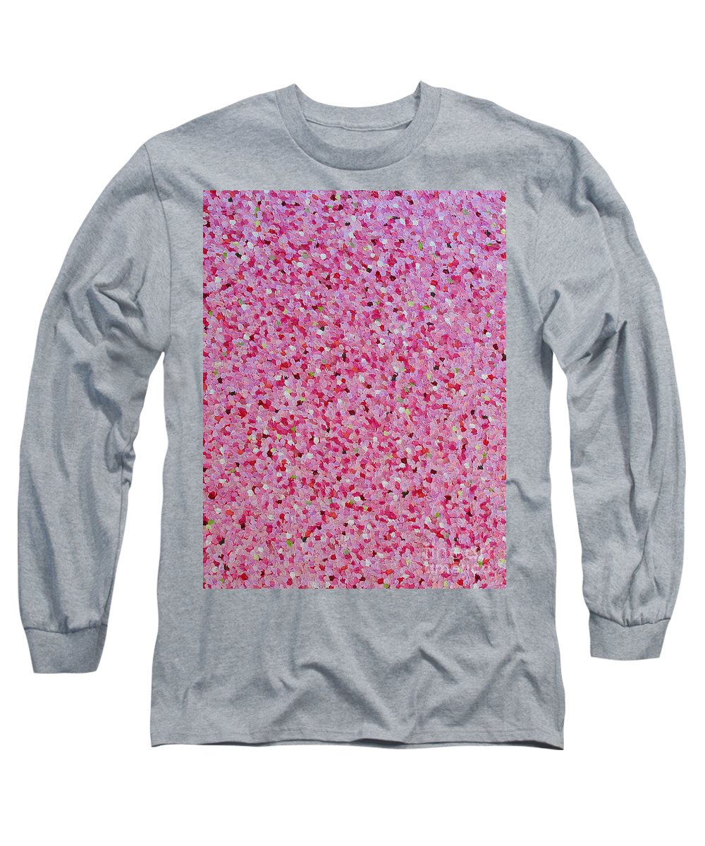 Abstract Long Sleeve T-Shirt featuring the painting Soft Red Light by Dean Triolo
