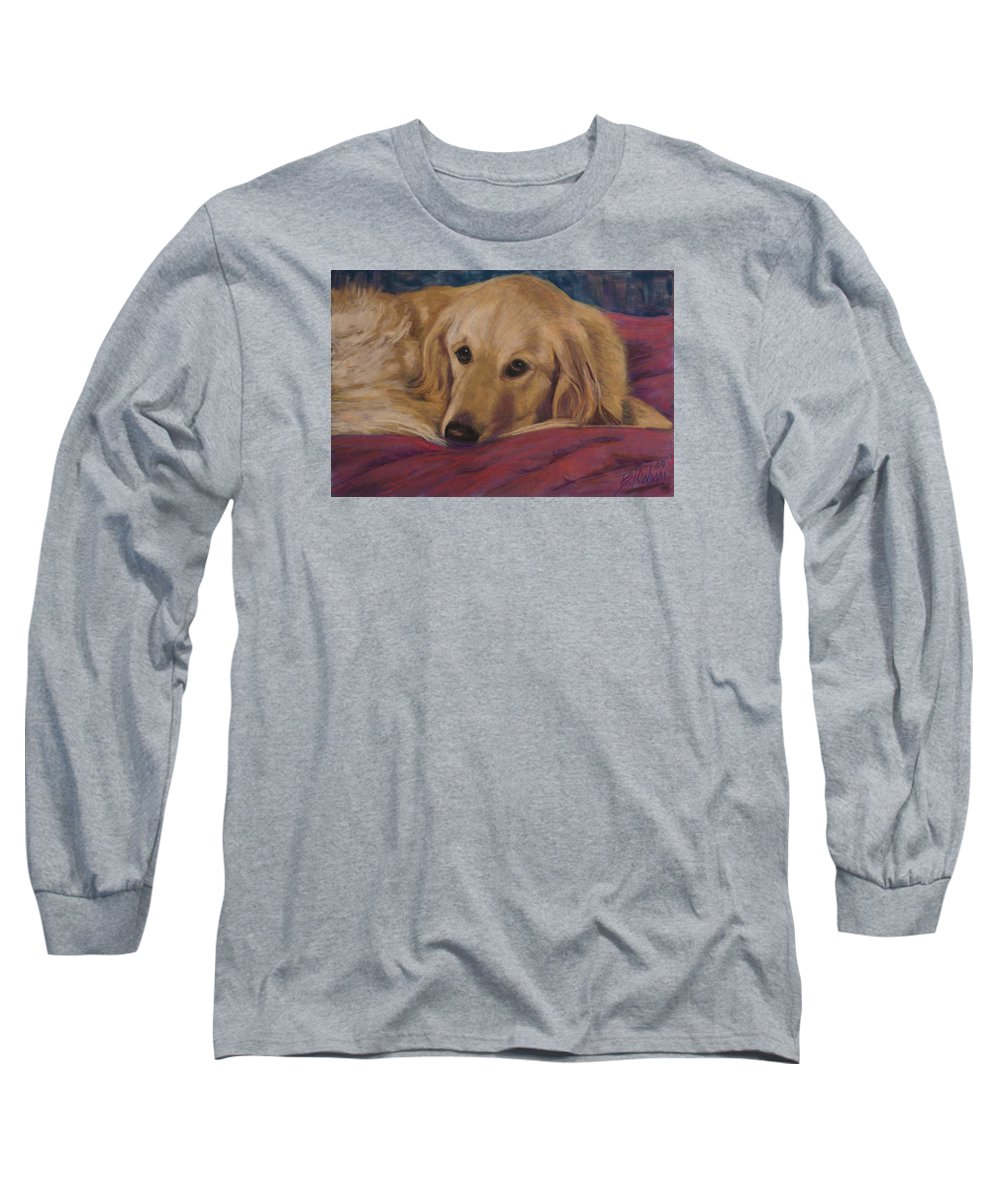 Dogs Long Sleeve T-Shirt featuring the painting Soulfull Eyes by Billie Colson