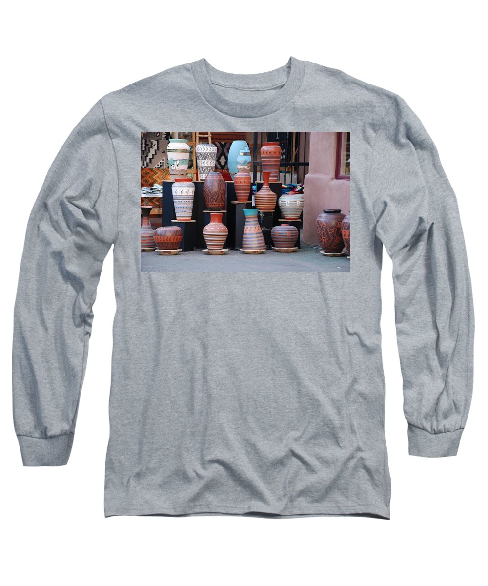 Southwestern Long Sleeve T-Shirt featuring the photograph Southwestern Potery by Rob Hans