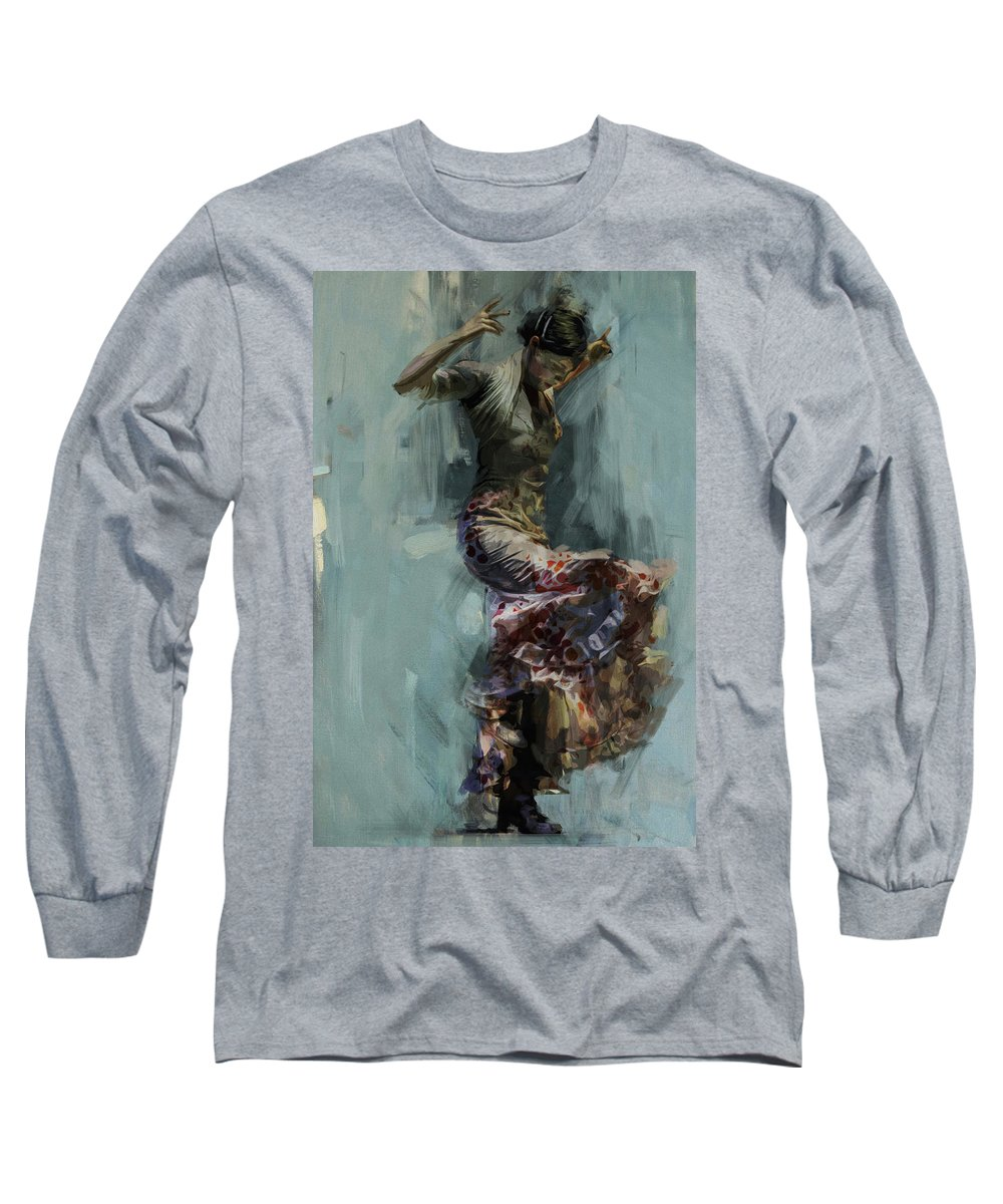 Spanish Long Sleeve T-Shirt featuring the painting Spanish Culture 9 by Corporate Art Task Force