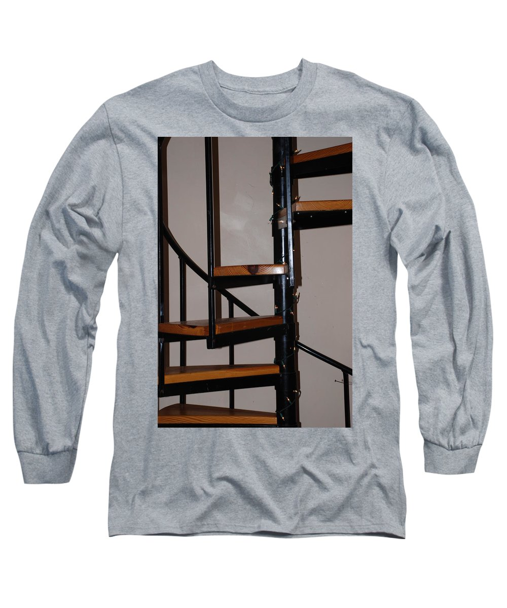 Stairs Long Sleeve T-Shirt featuring the photograph Spiral Stairs by Rob Hans