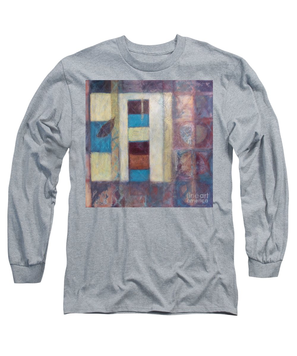 Spiritual Long Sleeve T-Shirt featuring the painting Spirit Of Gold - States Of Being by Kerryn Madsen- Pietsch