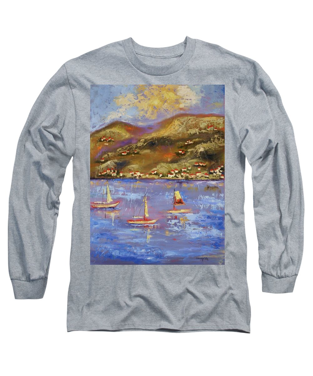 St. John Long Sleeve T-Shirt featuring the painting St. John Usvi by Ginger Concepcion