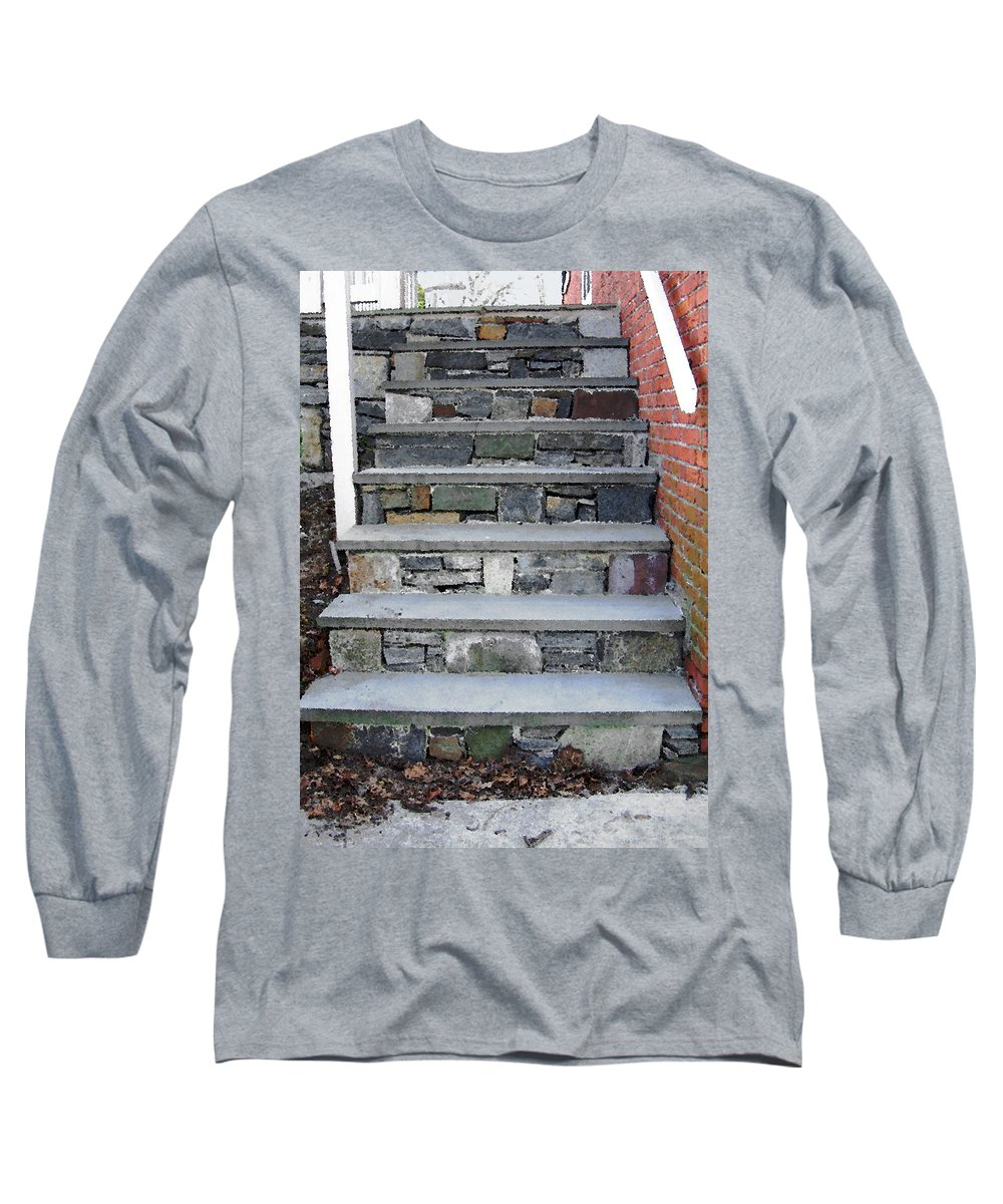 Stairs Long Sleeve T-Shirt featuring the photograph Stairs To The Plague House by RC DeWinter