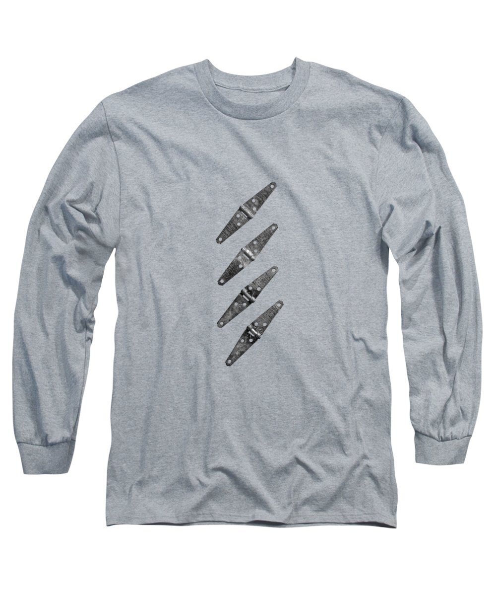 Background Long Sleeve T-Shirt featuring the photograph Strap Hinges by YoPedro