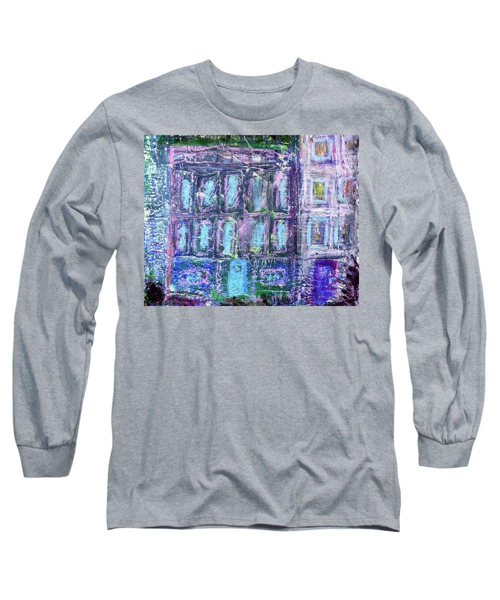 Street Long Sleeve T-Shirt featuring the painting Street Life by Wayne Potrafka