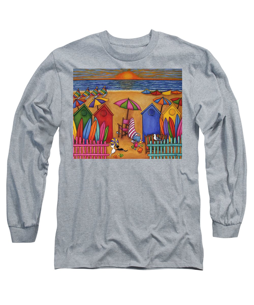 Summer Long Sleeve T-Shirt featuring the painting Summer Delight by Lisa Lorenz