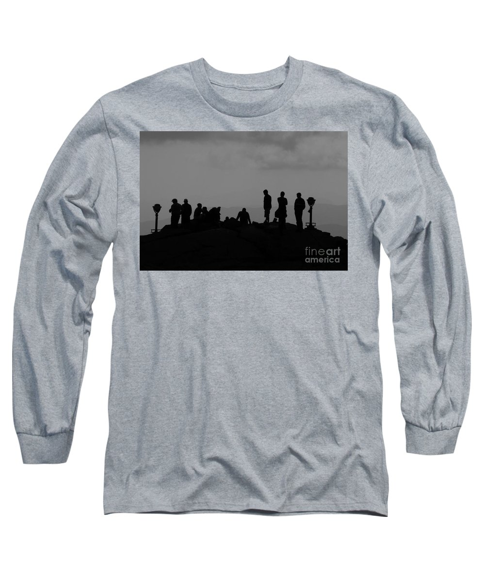 Summit Long Sleeve T-Shirt featuring the photograph Summit People by David Lee Thompson