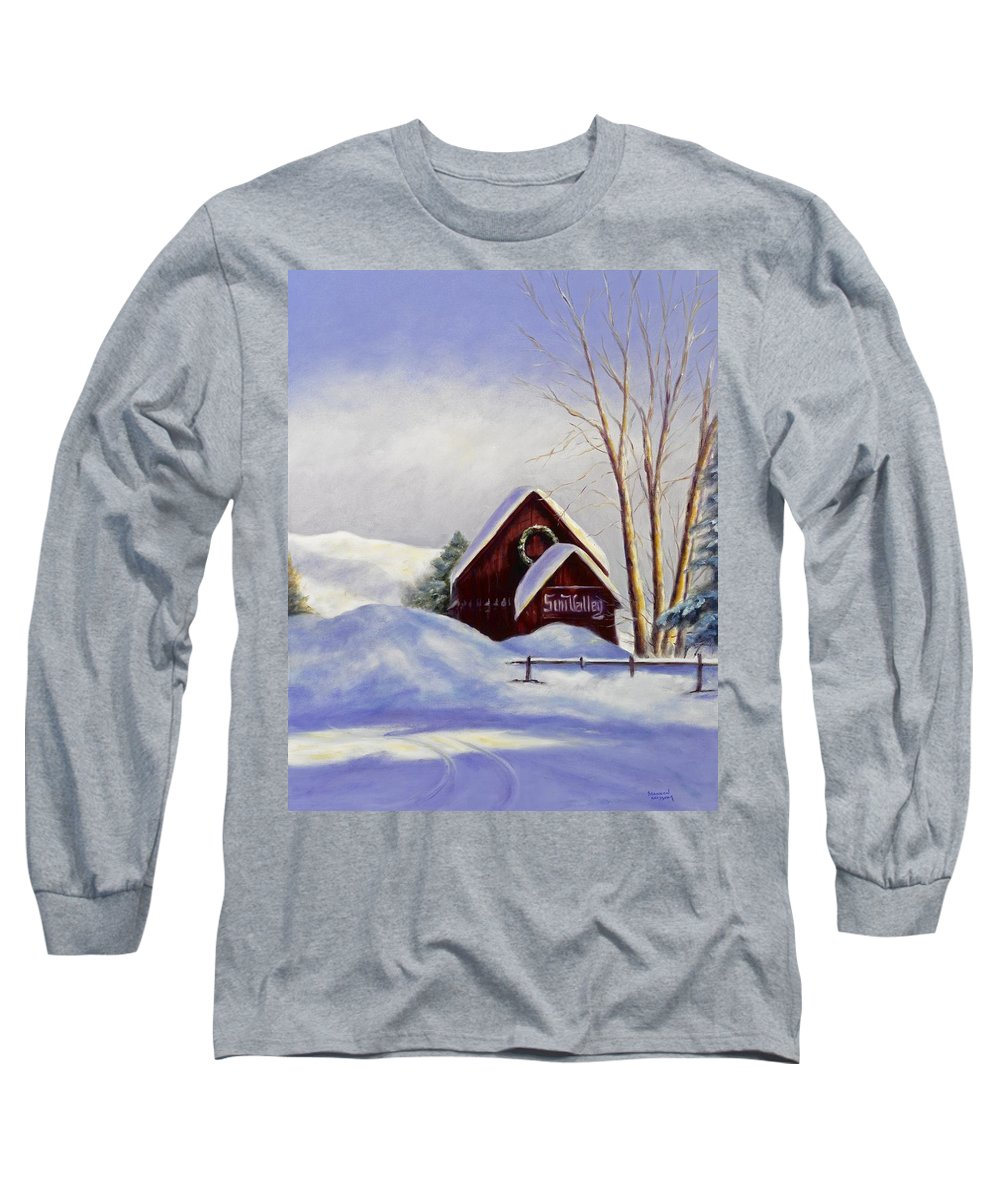 Landscape Long Sleeve T-Shirt featuring the painting Sun Valley 2 by Shannon Grissom