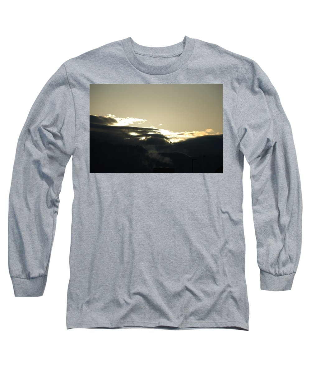 Sunrise Long Sleeve T-Shirt featuring the photograph Sunrise Over The Sandias by Rob Hans