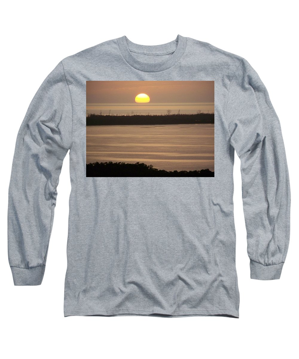 Sunset Long Sleeve T-Shirt featuring the photograph Sunset 0022 by Laurie Paci