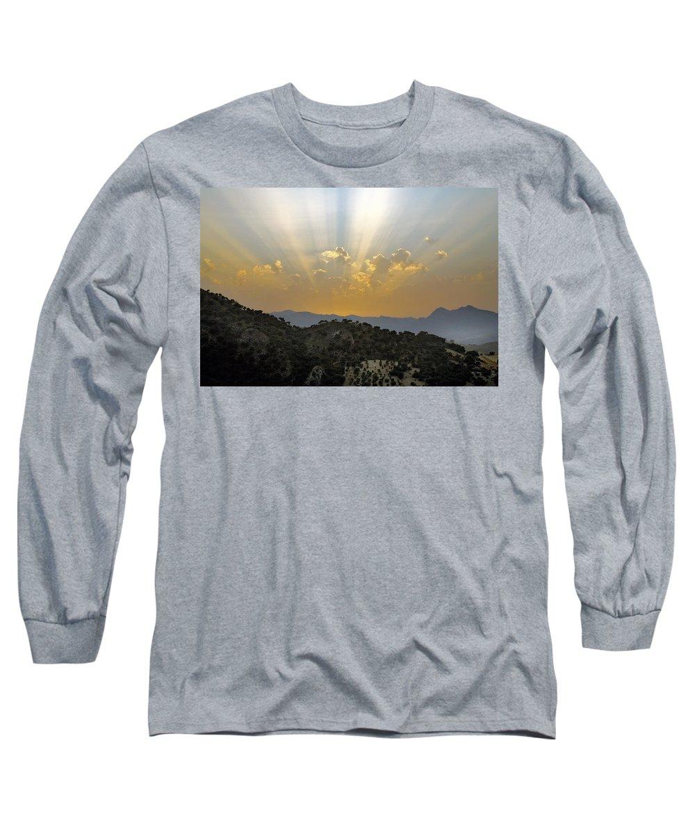 Sunrise Long Sleeve T-Shirt featuring the photograph Sunset At Pastelero Near Villanueva De La Concepcion Andalucia Spain by Mal Bray