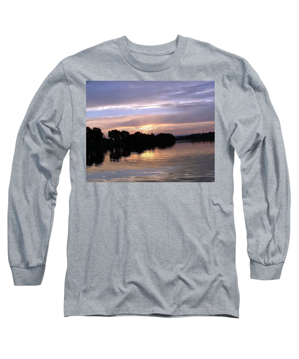 Snake River Long Sleeve T-Shirt featuring the photograph Sunset On The Snake by Dawn Blair