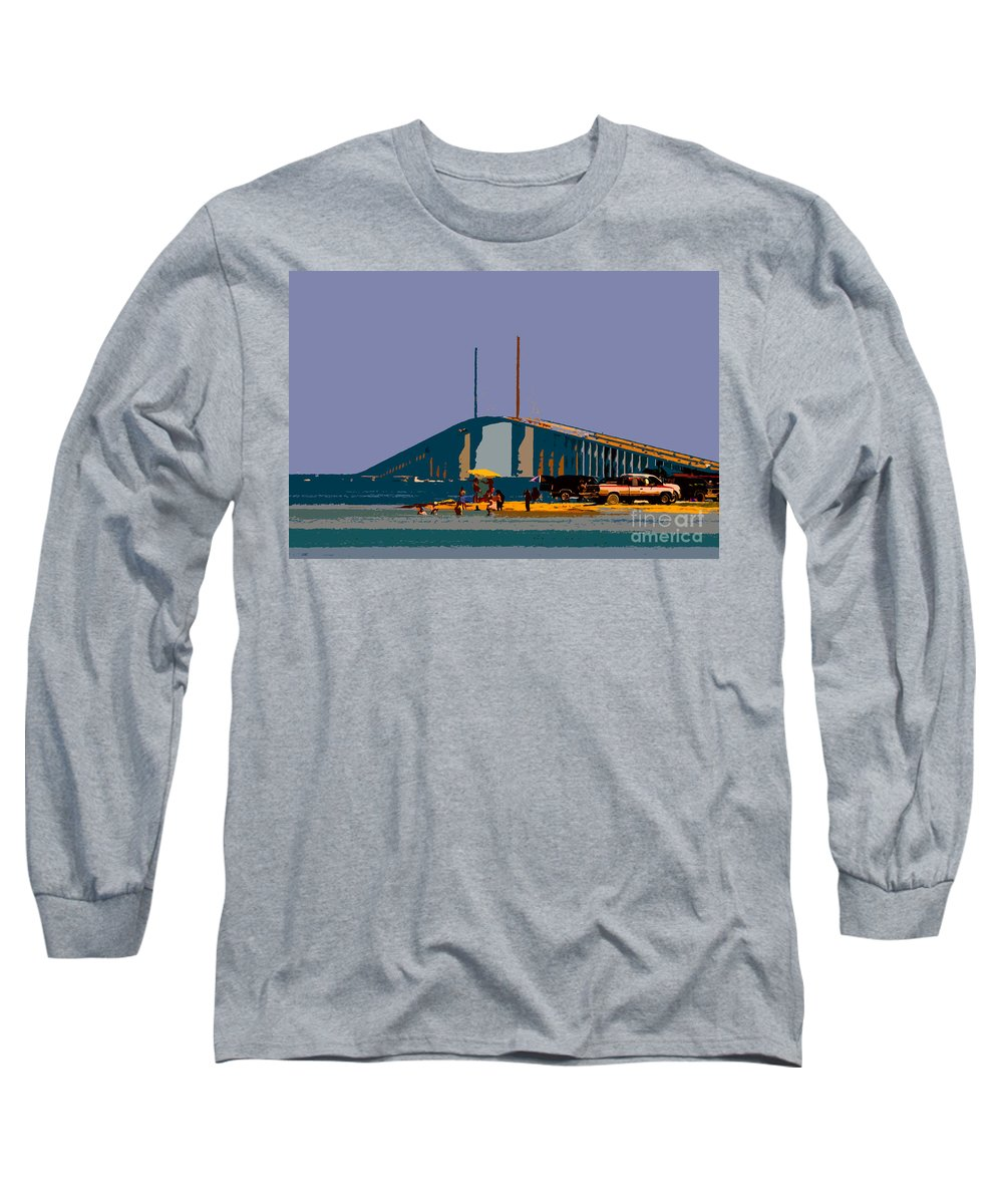 Sunshine Skyway Bridge Long Sleeve T-Shirt featuring the photograph Sunshine Skyway by David Lee Thompson
