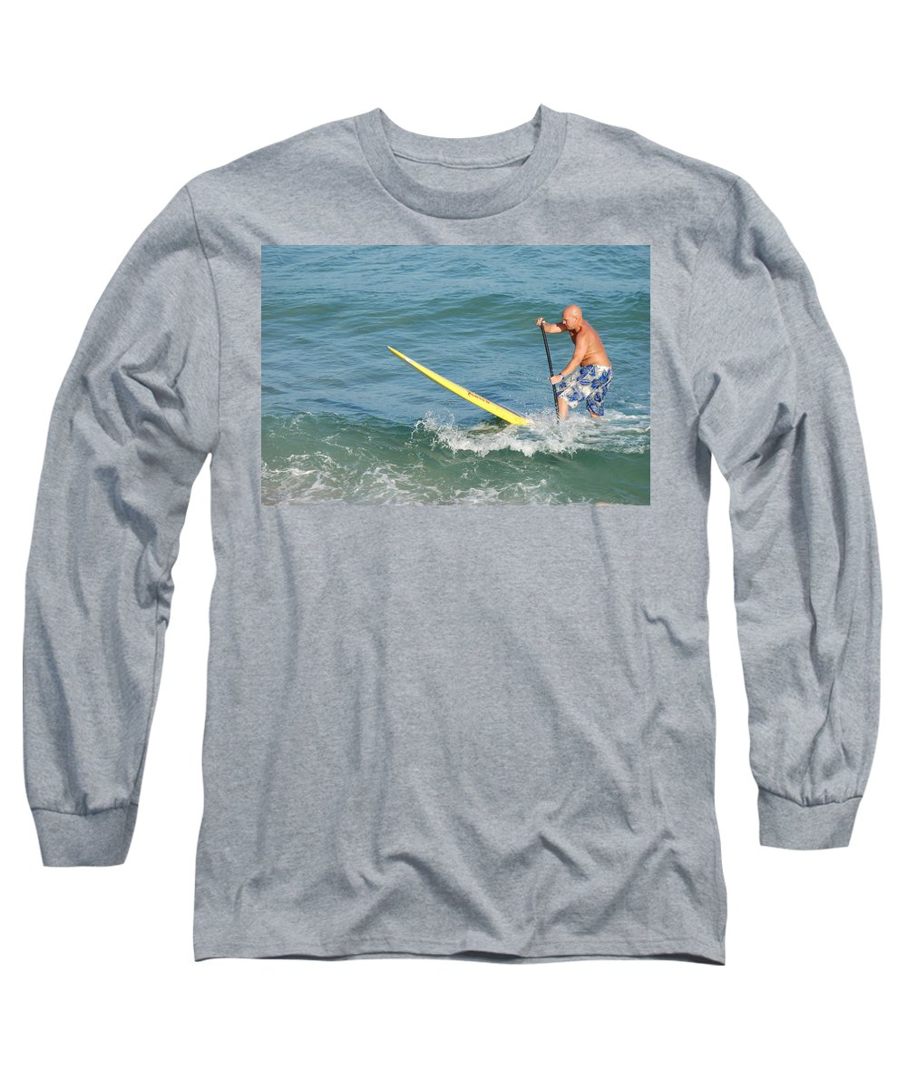 Sea Scape Long Sleeve T-Shirt featuring the photograph Surfer Dude by Rob Hans