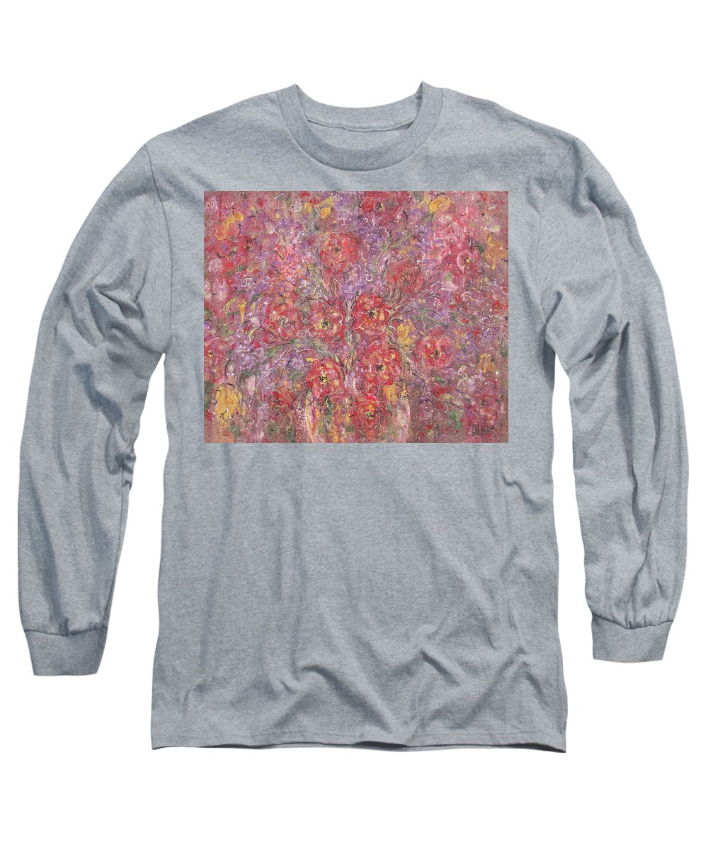 Still Life Long Sleeve T-Shirt featuring the painting Sweet Memories by Natalie Holland