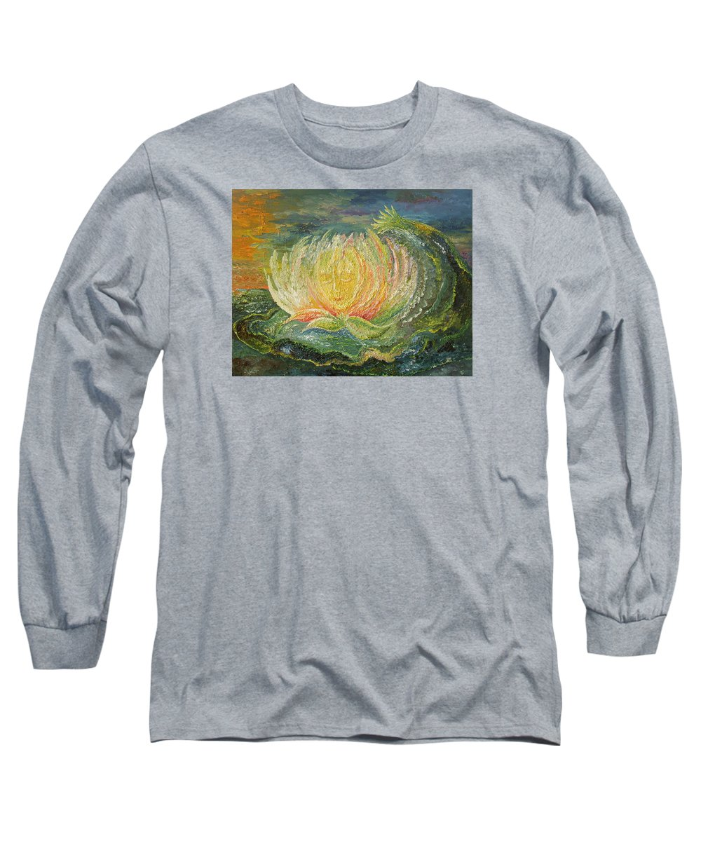 Flower Long Sleeve T-Shirt featuring the painting Sweet Morning Dream by Karina Ishkhanova
