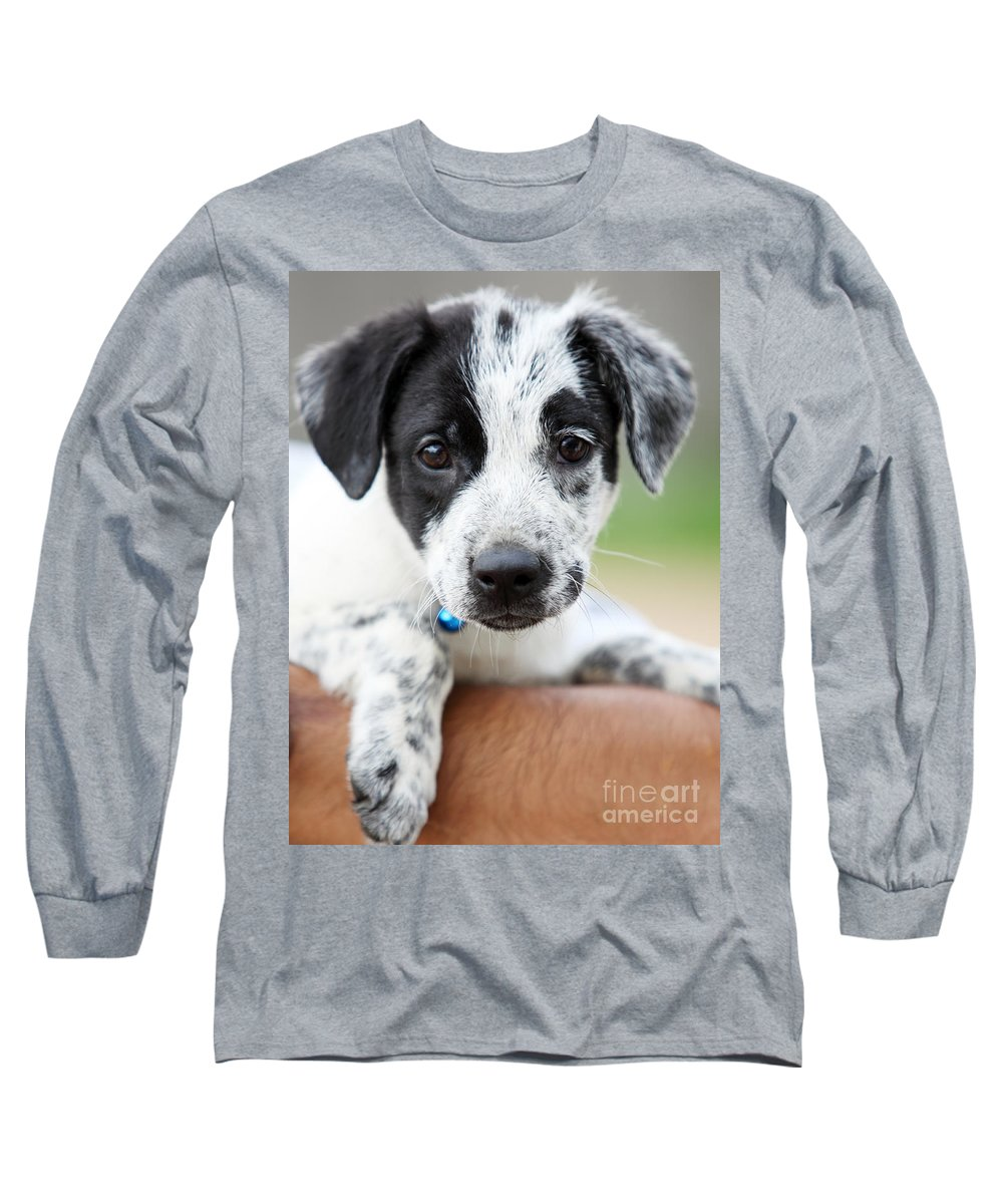 Puppy Long Sleeve T-Shirt featuring the photograph Sweetness by Amanda Barcon