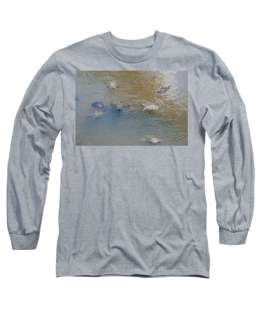 Water Long Sleeve T-Shirt featuring the photograph Swimming Turtles by Rob Hans