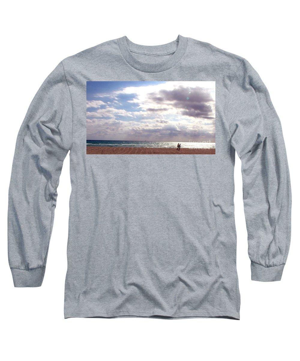 Walking Long Sleeve T-Shirt featuring the photograph Taking A Walk by Amanda Barcon
