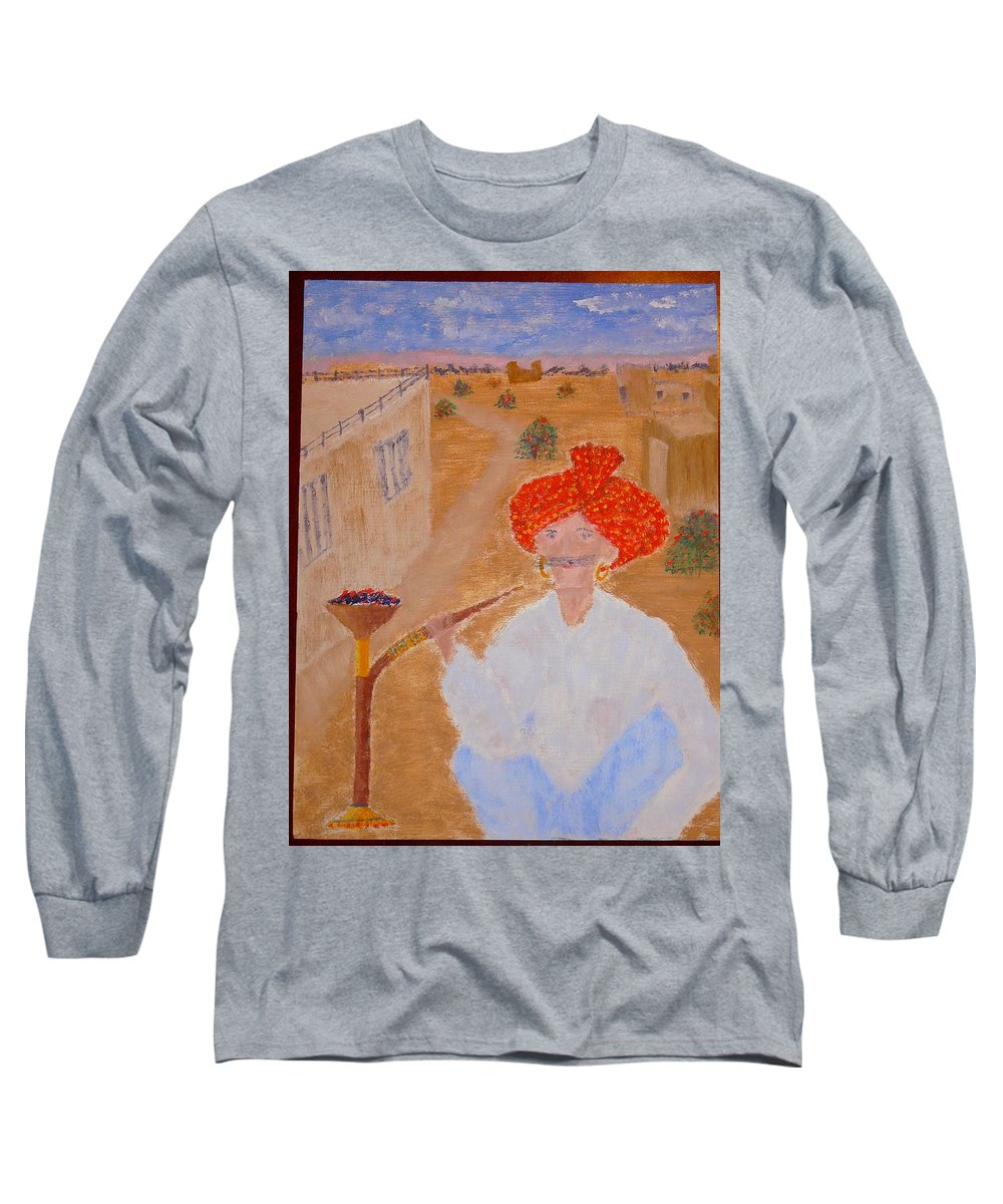 People Long Sleeve T-Shirt featuring the painting Tau by R B