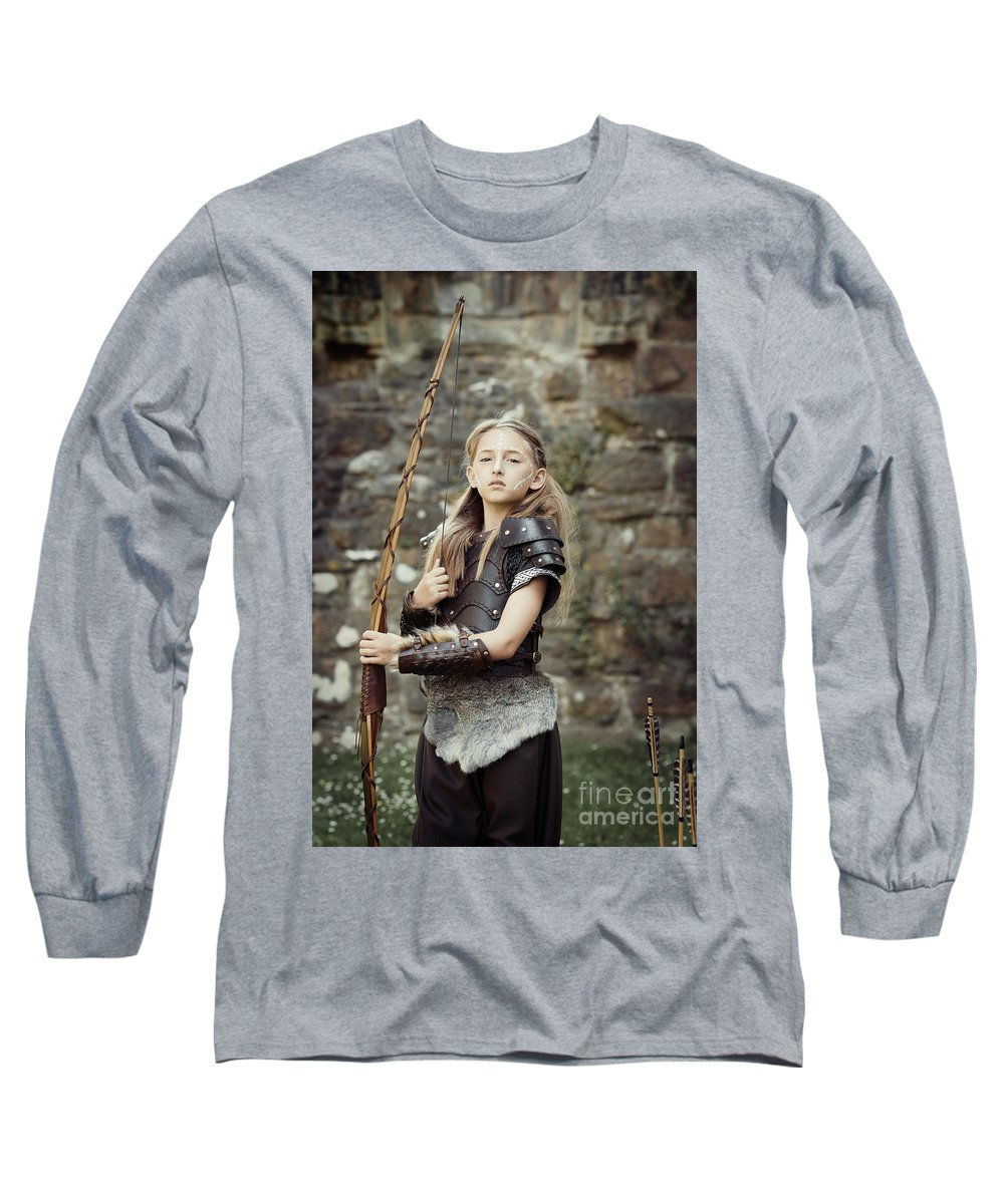 Got Long Sleeve T-Shirt featuring the photograph The Archer by Amanda Elwell