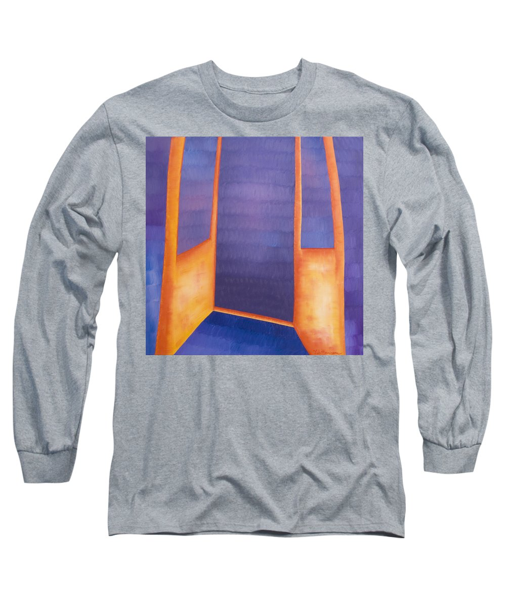 Death Long Sleeve T-Shirt featuring the painting The Arrival by Judy Henninger