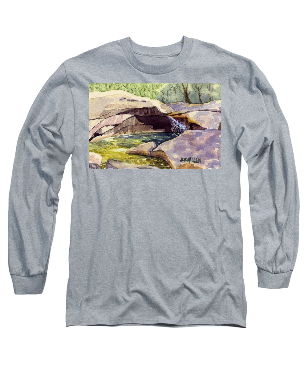 The Basin Long Sleeve T-Shirt featuring the painting The Basin by Sharon E Allen