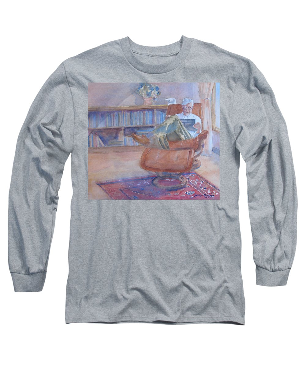 Man Long Sleeve T-Shirt featuring the painting The Civilized Engineer by Jenny Armitage